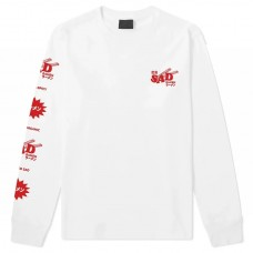 SAD RAMEN LS TEE white лонгслив